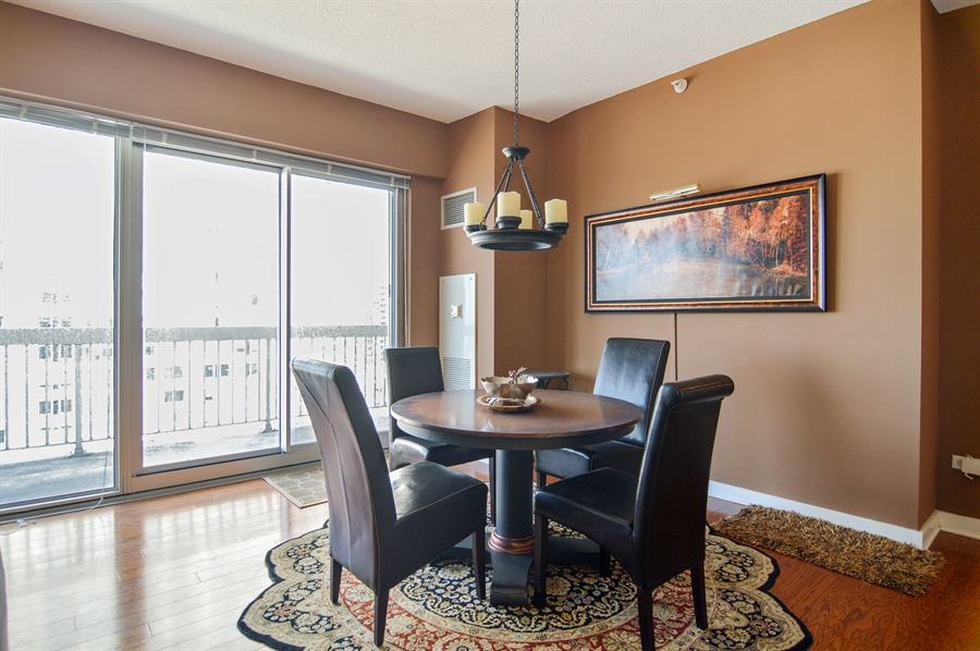 Real Estate Photography - 545 N Dearborn St, Apt 3502, Chicago, IL, 60654 - Dining Room