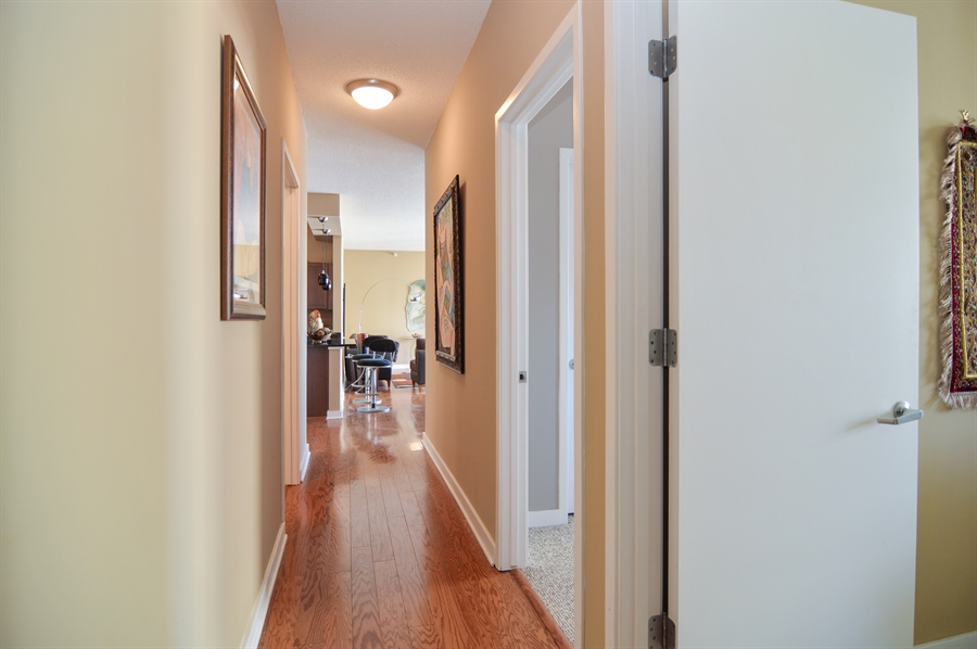 Real Estate Photography - 545 N Dearborn St, Apt 3502, Chicago, IL, 60654 - Hallway