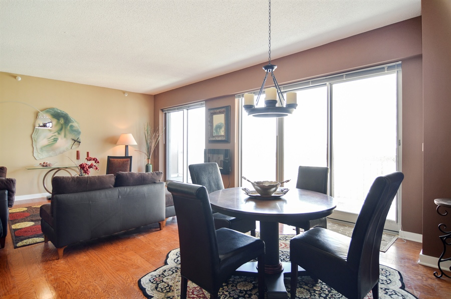 Real Estate Photography - 545 N Dearborn St, Apt 3502, Chicago, IL, 60654 - Living Room / Dining Room