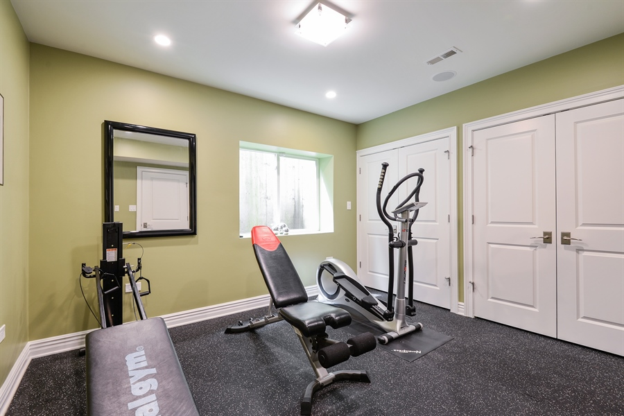 Real Estate Photography - 1001 Woodlawn, Glenview, IL, 60025 - Exercise Room/6th Bedroom