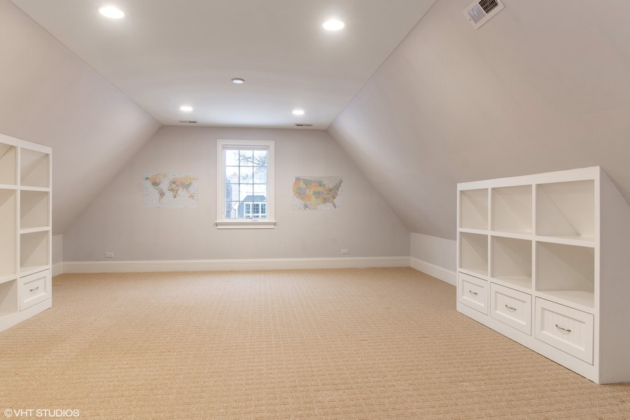 Real Estate Photography - 1001 Woodlawn, Glenview, IL, 60025 - Game Room/5th Bedroom