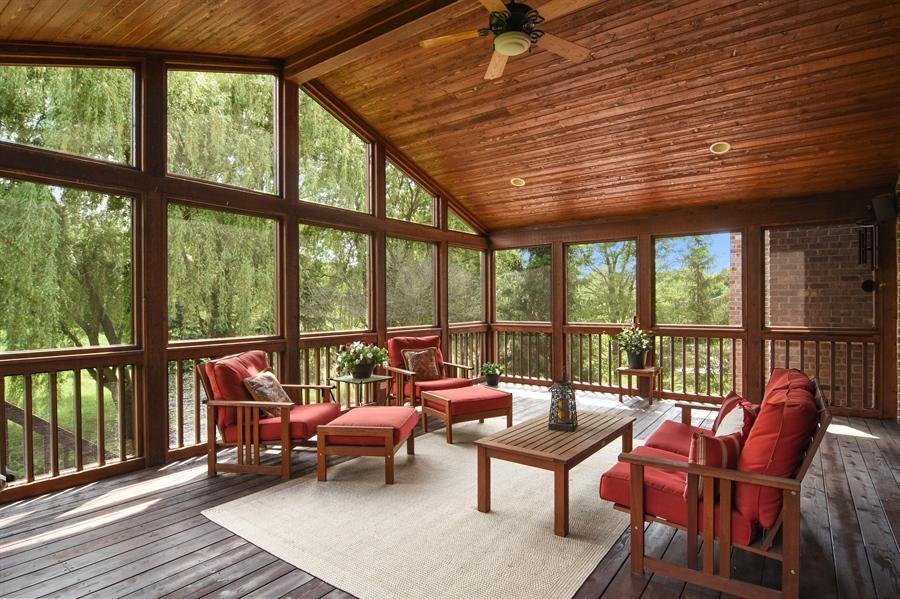 Real Estate Photography - 20843 W. High Ridge, Kildeer, IL, 60047 - Screened Porch