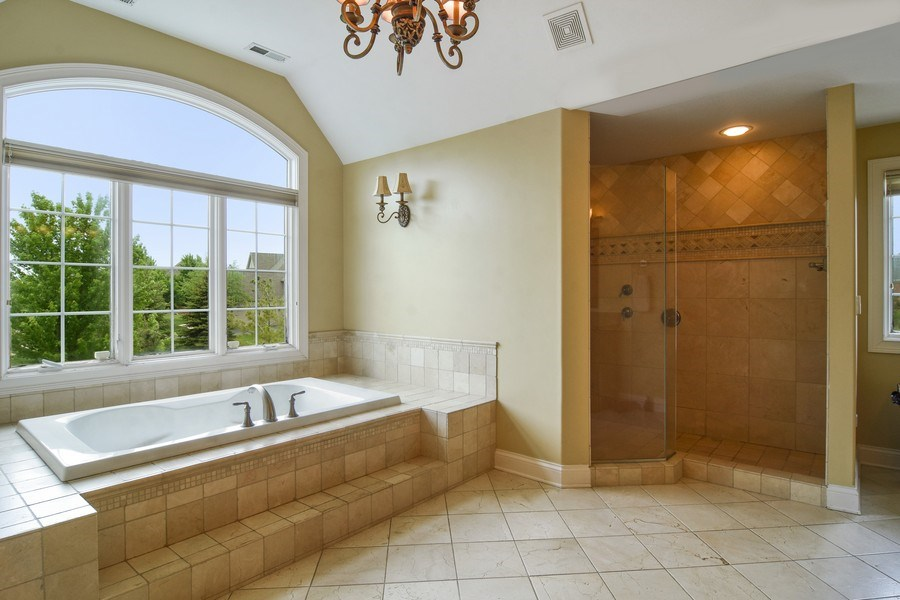 Real Estate Photography - 22358 N. Prairie Lane, Kildeer, IL, 60047 - Master Bathroom