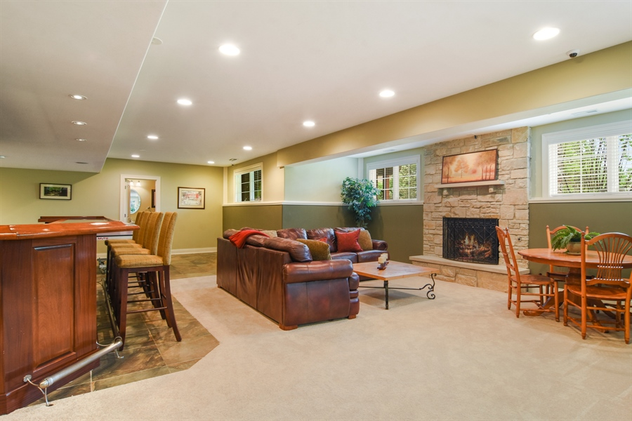 Real Estate Photography - 22358 N. Prairie Lane, Kildeer, IL, 60047 - Recreation Room / Bar