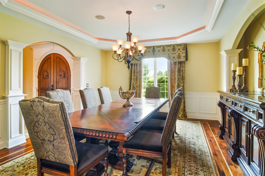 Real Estate Photography - 22358 N. Prairie Lane, Kildeer, IL, 60047 - Dining Room