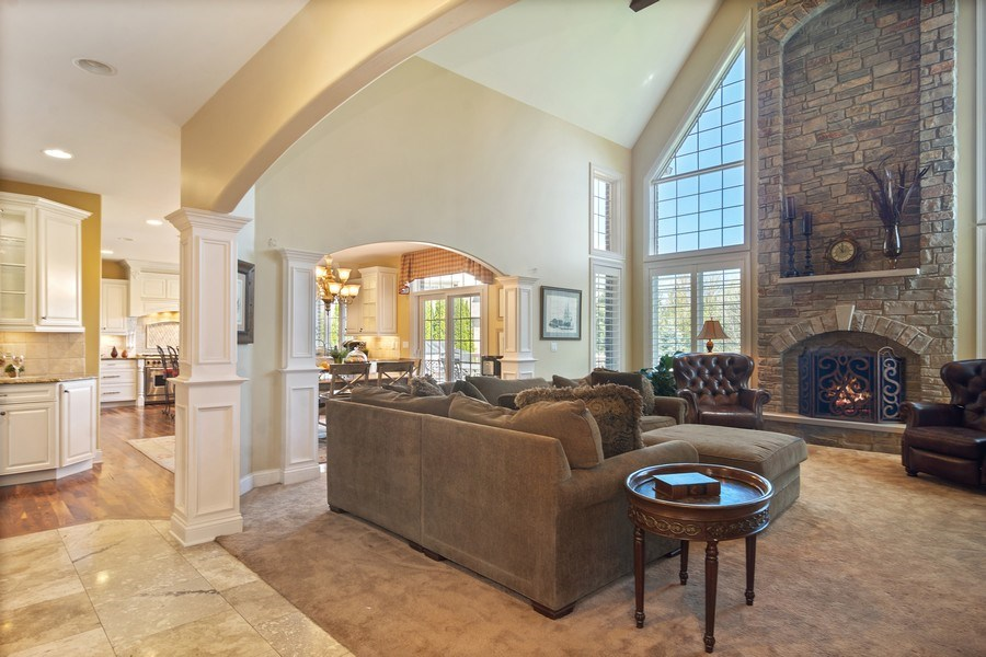 Real Estate Photography - 22358 N. Prairie Lane, Kildeer, IL, 60047 - Family Room
