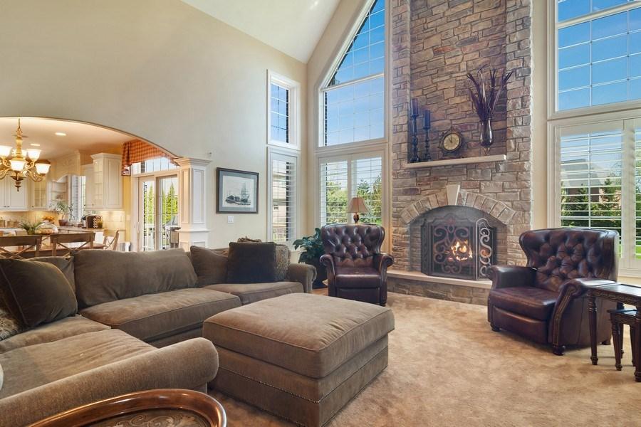 Real Estate Photography - 22358 N. Prairie Lane, Kildeer, IL, 60047 - Family Room