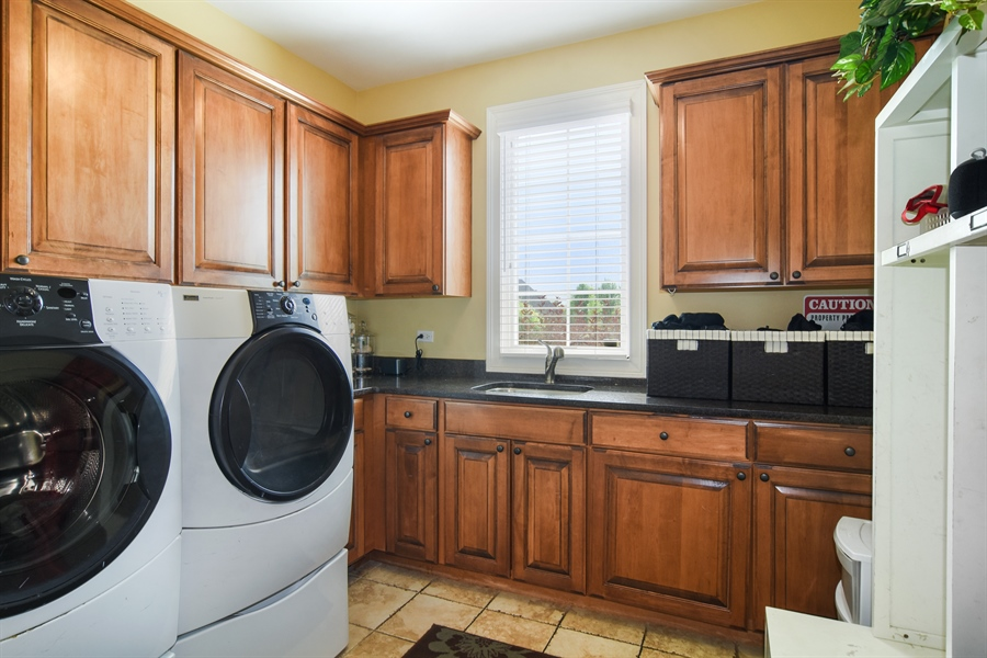 Real Estate Photography - 22358 N. Prairie Lane, Kildeer, IL, 60047 - Laundry Room