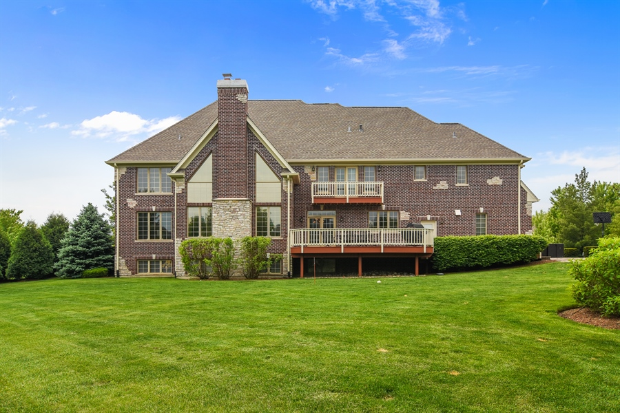 Real Estate Photography - 22358 N. Prairie Lane, Kildeer, IL, 60047 - Rear View