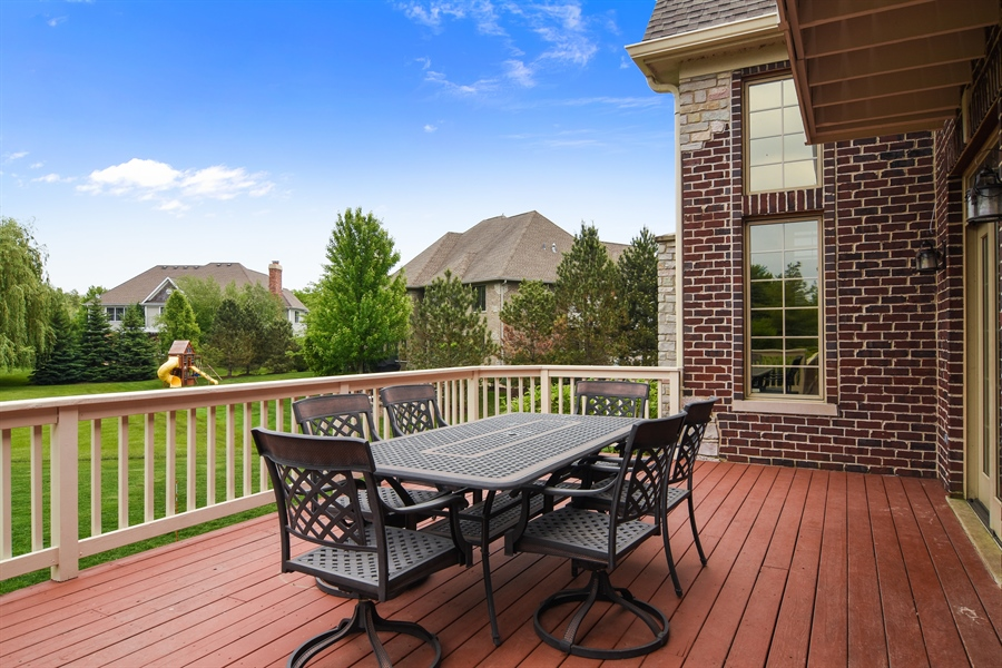 Real Estate Photography - 22358 N. Prairie Lane, Kildeer, IL, 60047 - Deck