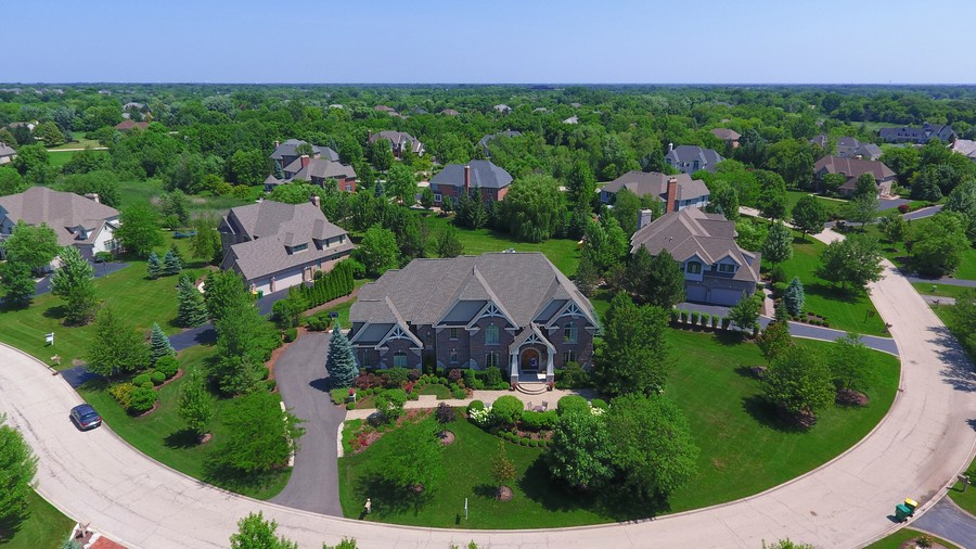 Real Estate Photography - 22358 N. Prairie Lane, Kildeer, IL, 60047 - Front Exterior Drone