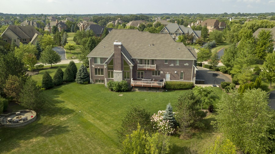 Real Estate Photography - 22358 N. Prairie Lane, Kildeer, IL, 60047 - Rear Exterior Drone