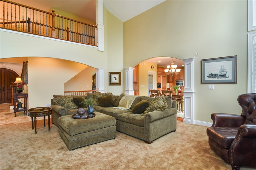 Real Estate Photography - 22358 N. Prairie Lane, Kildeer, IL, 60047 - Family Room / Kitchen