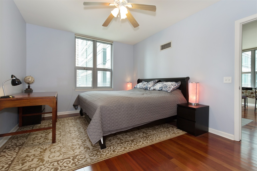 Real Estate Photography - 125 S. Jefferson St., 1704, Chicago, IL, 60661 - Master Bedroom