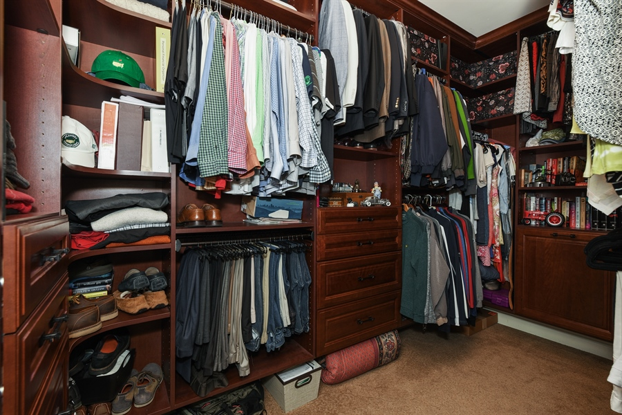 Real Estate Photography - 349 woodland ct, palatine, IL, 60067 - Master Bedroom Closet