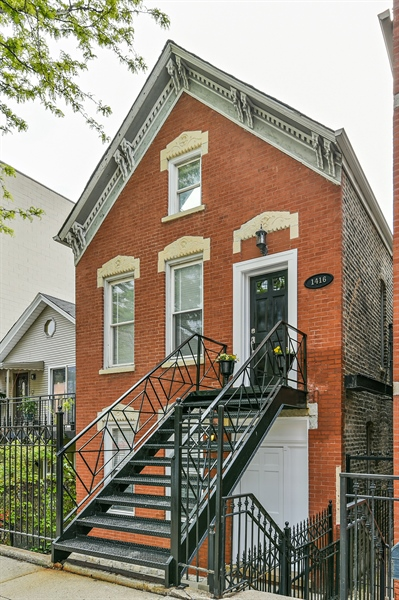 Real Estate Photography - 1416 N. Greenview, Chicago, IL, 60642 - Front View