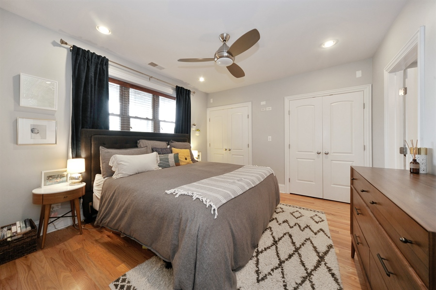 Real Estate Photography - 3933 N Marshfield Ave, Unit 2s, Chicago, IL, 60613 - Master Bedroom