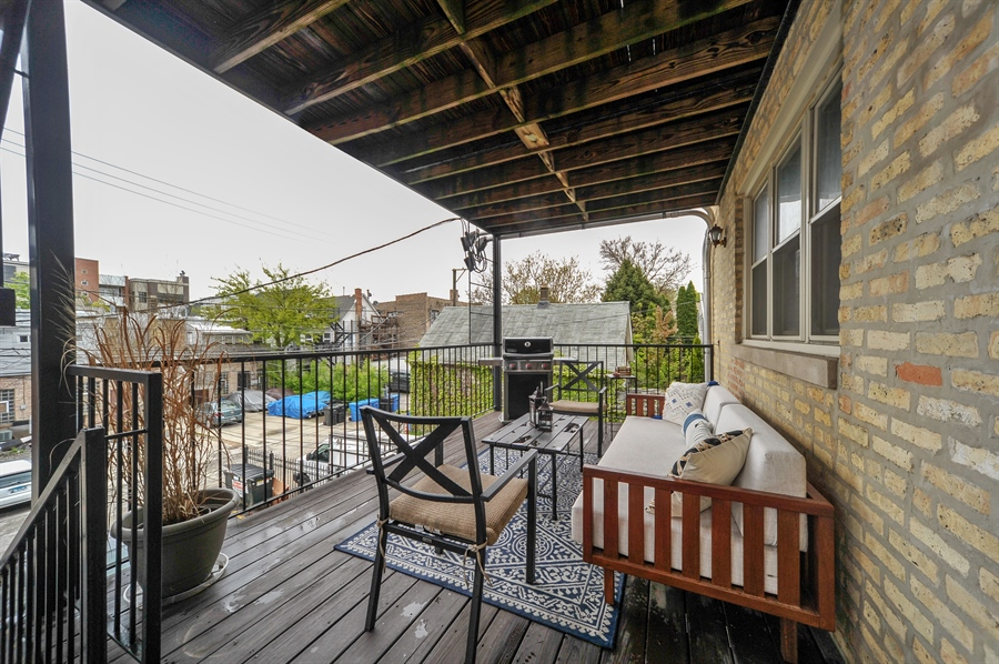 Real Estate Photography - 3933 N Marshfield Ave, Unit 2s, Chicago, IL, 60613 - Deck