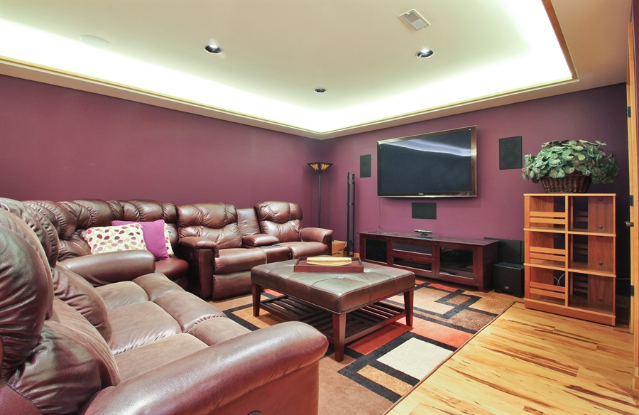 Real Estate Photography - 2223 Thistle, Glenview, IL, 60026 - Lower Level Media Room