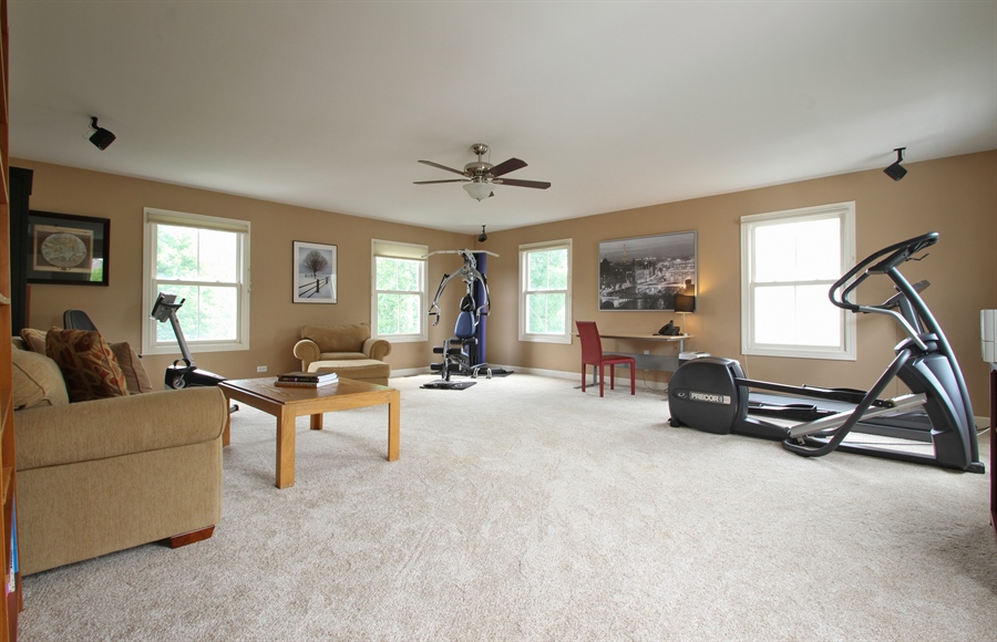 Real Estate Photography - 2223 Thistle, Glenview, IL, 60026 - 2nd Floor Giant Bonus Room
