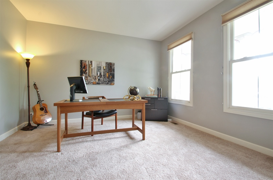 Real Estate Photography - 2223 Thistle, Glenview, IL, 60026 - Main Level Office