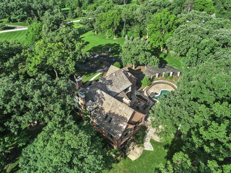 Real Estate Photography - 63 Brinker Rd, Barrington Hills, IL, 60010 - Aerial View