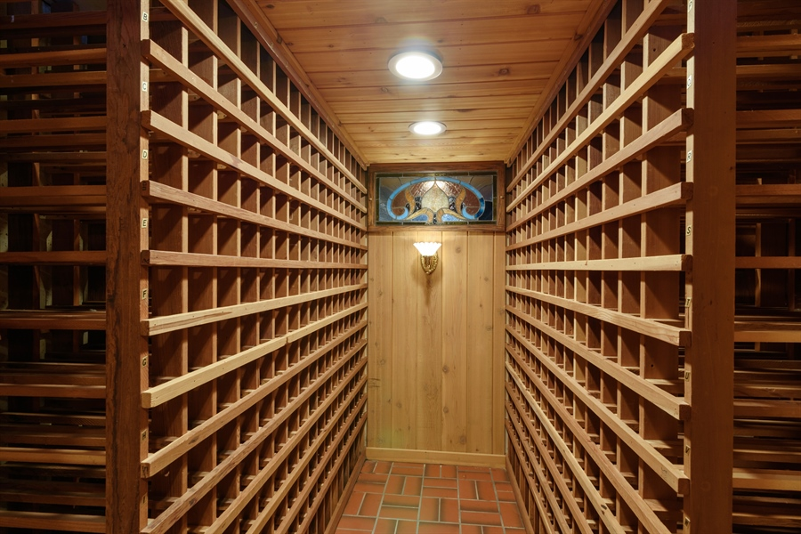 Real Estate Photography - 63 Brinker Rd, Barrington Hills, IL, 60010 - Wine Cellar