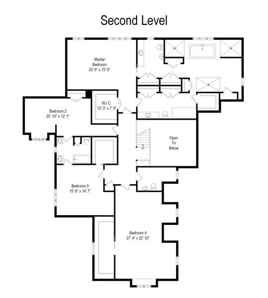 Real Estate Photography - 63 Brinker Rd, Barrington Hills, IL, 60010 - Floor Plan