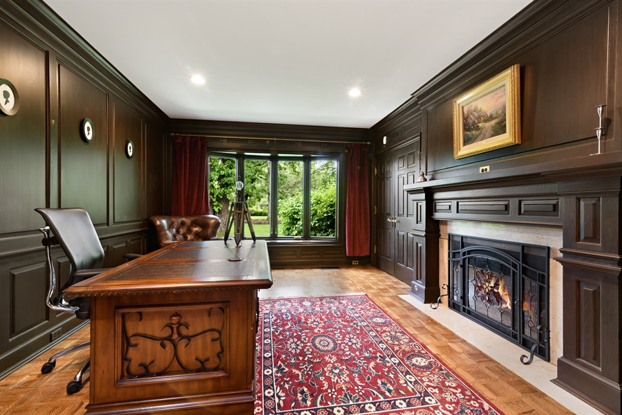 Real Estate Photography - 63 Brinker Rd, Barrington Hills, IL, 60010 - Office