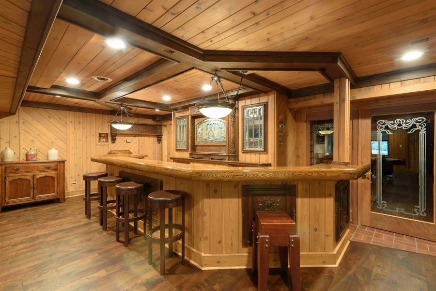 Real Estate Photography - 63 Brinker Rd, Barrington Hills, IL, 60010 - Bar