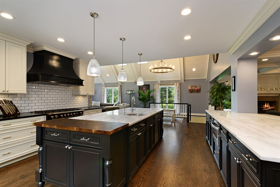 Real Estate Photography - 63 Brinker Rd, Barrington Hills, IL, 60010 - Family Room / Kitchen