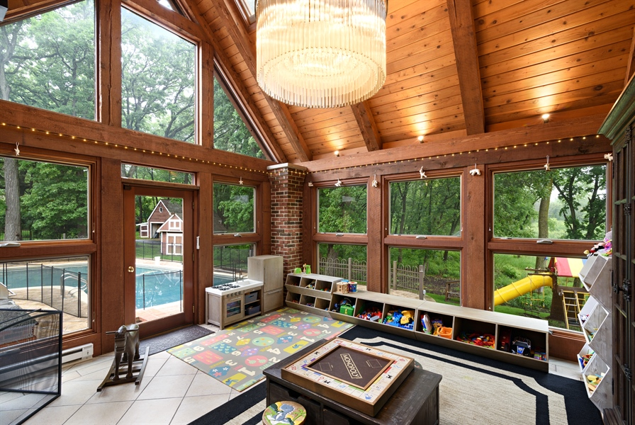 Real Estate Photography - 63 Brinker Rd, Barrington Hills, IL, 60010 - Sun Room