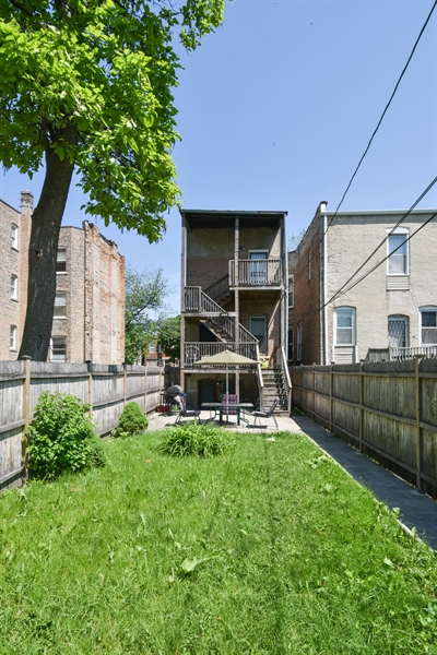 Real Estate Photography - 3227 W Fulton Blvd, Chicago, IL, 60624 - Rear View