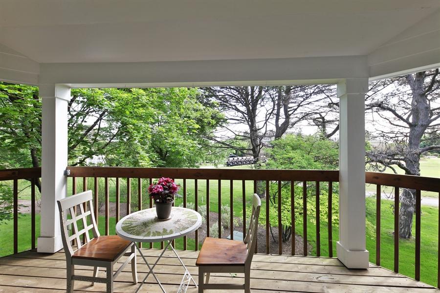 Real Estate Photography - 2527 Live Oak, Buffalo Grove, IL, 60089 - Balcony