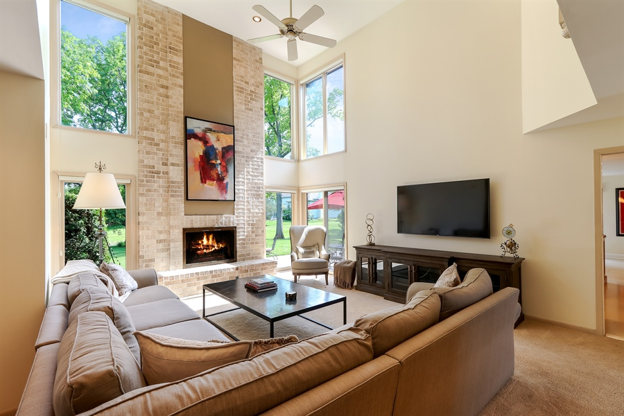 Real Estate Photography - 3041 Cyprus Court, Buffalo Grove, IL, 60089 - Family Room