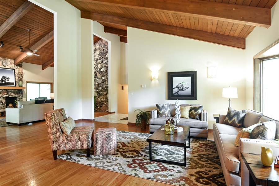 Real Estate Photography - 4509 N Krueger, Long Grove, IL, 60047 - Living Room
