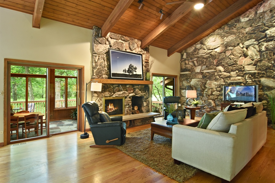 Real Estate Photography - 4509 N Krueger, Long Grove, IL, 60047 - Family Room