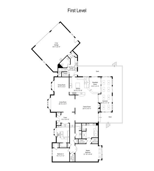 Real Estate Photography - 4509 N Krueger, Long Grove, IL, 60047 - Floor Plan
