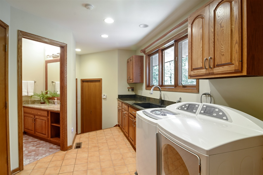 Real Estate Photography - 4509 N Krueger, Long Grove, IL, 60047 - Laundry Room