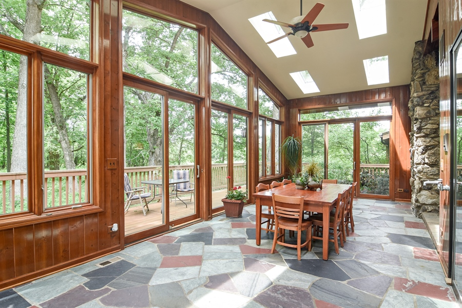 Real Estate Photography - 4509 N Krueger, Long Grove, IL, 60047 - Sun Room