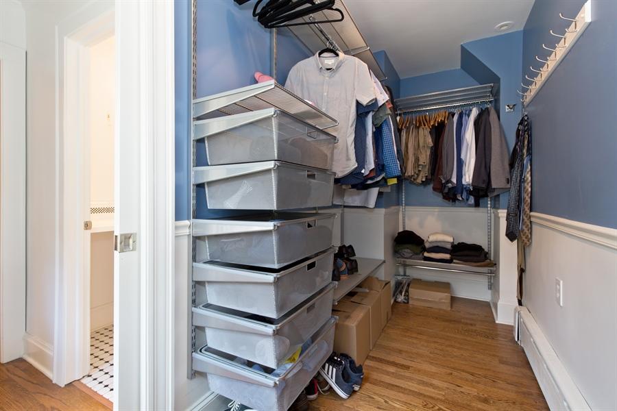Real Estate Photography - 2111 Ridge Ave, Evanston, IL, 60201 - Master Bedroom Closet