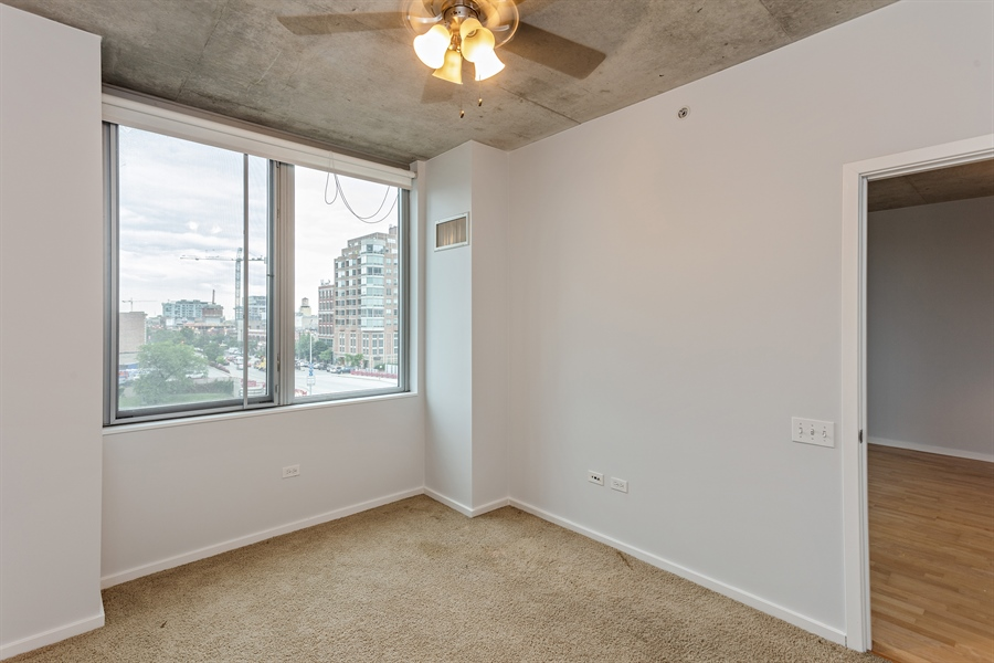 Real Estate Photography - 659 W Randolph St, Unit 410, Chicago, IL, 60661 - Bedroom