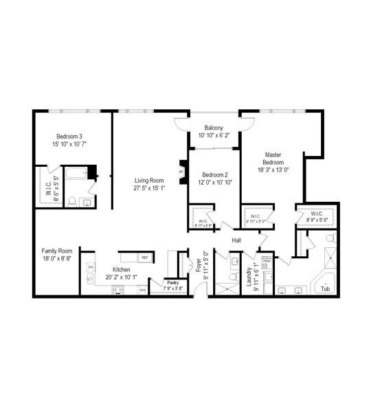 Real Estate Photography - 1000 Village Center Dr, Burr Ridge, IL, 60527 - Floor Plan