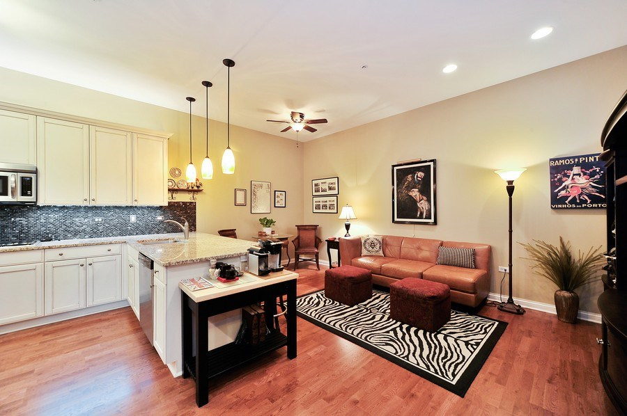 Real Estate Photography - 1000 Village Center Dr, Burr Ridge, IL, 60527 - Family Room / Kitchen