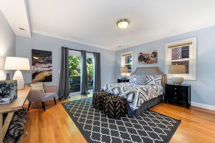 Real Estate Photography - 3927 N. Greenview, 4S, Chicago, IL, 60613 - Master Bedroom