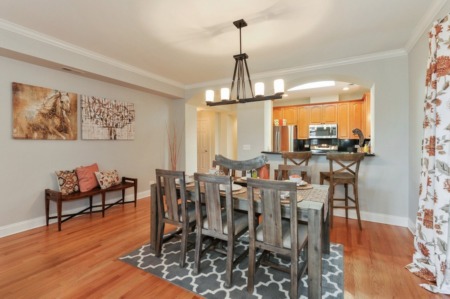 Real Estate Photography - 3927 N. Greenview, 4S, Chicago, IL, 60613 - Kitchen / Dining Room
