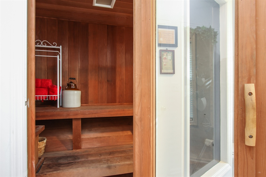 Real Estate Photography - 42675 Woodbine Ave, Antioch, IL, 60002 - Sauna