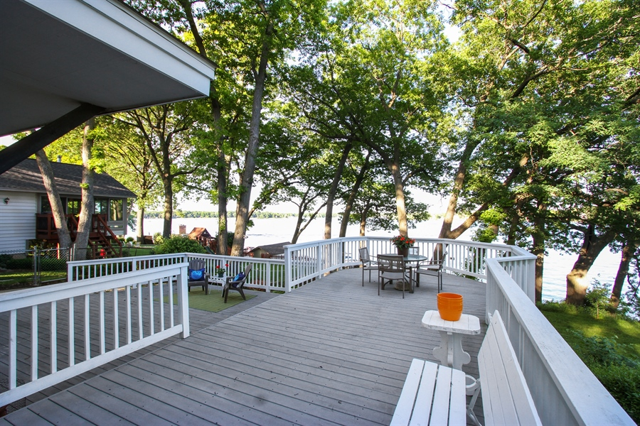 Real Estate Photography - 42675 Woodbine Ave, Antioch, IL, 60002 - Deck