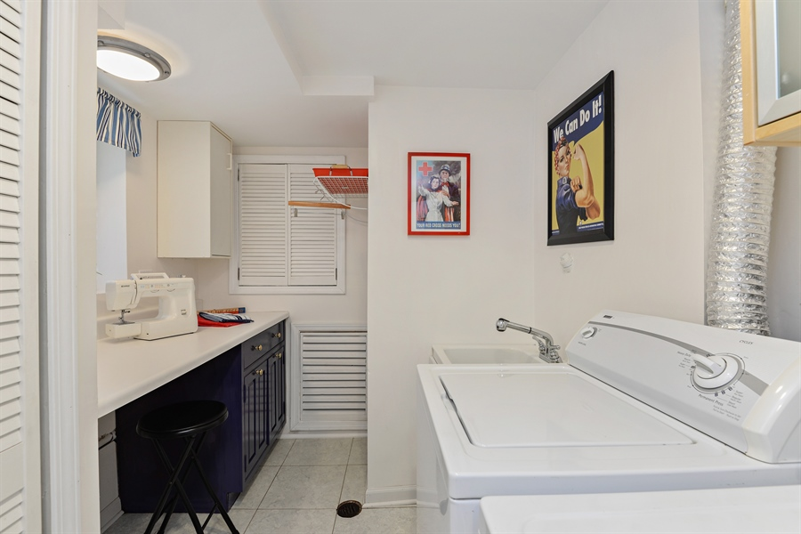 Real Estate Photography - 8206 Springfield Ave, Skokie, IL, 60076 - Laundry Room