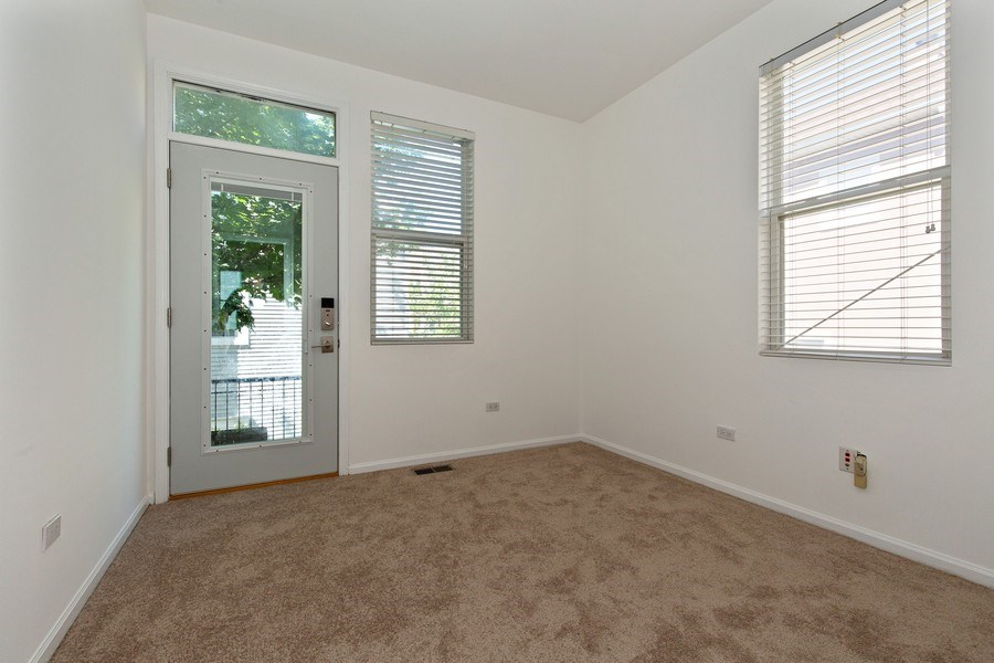 Real Estate Photography - 2847 N Wolcott, Unit #B, Chicago, IL, 60657 - 2nd Bedroom